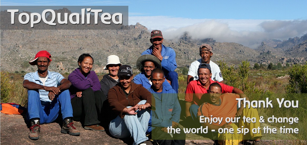 TopQualiTea - organic and fairtrade certified Rooibos, Honeybush and Olive Leaf Teas from South Africa.